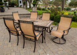 Hanover MONACO7PCSW Monaco 7-Piece High-Back Sling Outdoor Dining Set