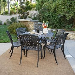 Christopher Knight Home Great Deal Furniture | Hammond | 7 Piece Cast Aluminum Dining Set | Perf ...