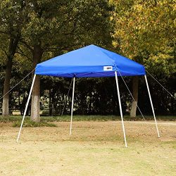 VIVOHOME Slant Leg Outdoor Easy Pop Up Canopy Party Tent Blue 8 x 8 ft