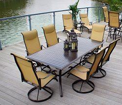Pebble Lane Living All Weather Rust Proof Indoor/Outdoor 7 Piece Cast Aluminum Patio Dining Set, ...