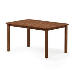 Furinno FG18070 Tioman Outdoor Dining Table, Natural