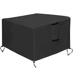 Kasla Fire Pit Cover Square 40″x40″- Waterproof Heavy Duty Patio Firepit Table Cover ...