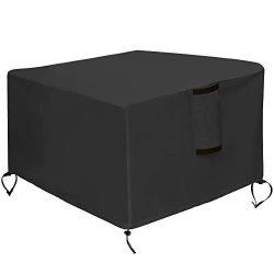 Kasla Fire Pit Cover Square 50″x50″ – Waterproof Heavy Duty Patio Fire Pit Tab ...