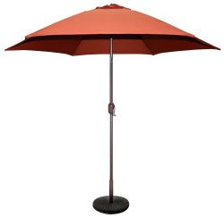 Tropishade 9 ft Bronze Aluminum Patio Umbrella with Rust Polyester Cover