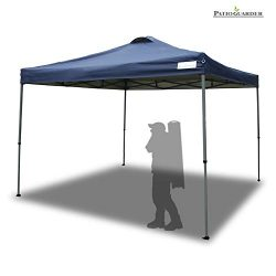 PATIO GUARDER 10'x10′ Instant Folding Canopy Tent Outdoor Pop up Portable Canopy wit ...