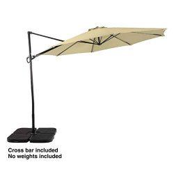 PHI VILLA 11ft Cantilever Patio Umbrella Offset Market Umbrella – 8 Positions – Cros ...
