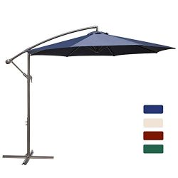 HASLE OUTFITTERS Offset Patio Umbrella 10FT Cantilever Umbrella Outdoor Market Umbrella Hanging  ...