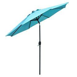 Snail 10 ft Outdoor Large Aluminum Outdoor Umbrella Garden Table Umbrellas Sunshade with Push Bu ...