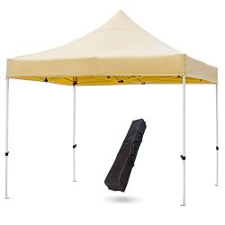 Snail Commercial Grade 10'x10′ Outdoor Easy Pop Up Canopy Tent with Heavy Duty Alumi ...