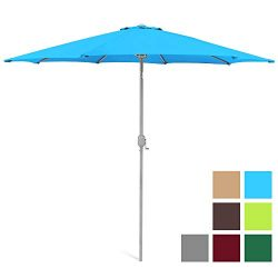 Best Choice Products 9ft Outdoor Water/UV-Resistant Market Patio Umbrella w/Crank Tilt Adjustmen ...