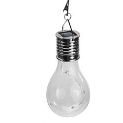 IslandseWaterproof Solar Rotatable Outdoor Garden Camping Hanging LED Light Lamp Bulb (Yellow)