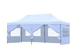 HYD-Parts Outdoor Patio 10×20 Ft Pop up Canopy Party Wedding Gazebo Tent (10×20 Ft (0 ...