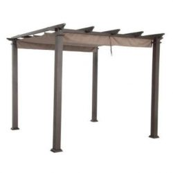 Garden Winds Replacement Canopy Top Cover for Hampton Bay 9Ft Pergola – Sunbrella