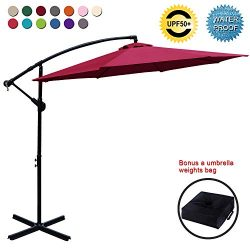 ABCCANOPY Patio Umbrellas Cantilever Umbrella Offset Hanging Umbrellas 10 FT Outdoor Market Umbr ...