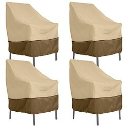 Classic Accessories Veranda High Back Dining Patio Chair Cover (4-Pack)