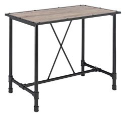 Acme Furniture 72030 Caitlin Bar Table, Rustic Oak & Black