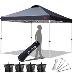 MASTERCANOPY Compact Canopy 10×10 Ez Pop up Canopy Portable Shade Instant Folding Better Ai ...