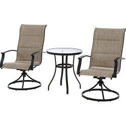 Mainstays Highland Knolls Padded Sling 3-Piece Bistro Set