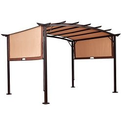 12′ x 9′ Pergola Kit Metal Frame Gazebo &Canopy Cover Patio Furniture Shelter