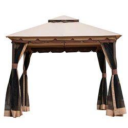 Sunnyglade 10′ x10′ Gazebo Canopy Soft Top Outdoor Patio Gazebo Tent Garden Canopy f ...