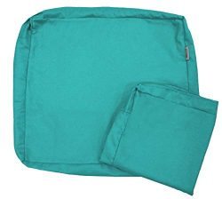 QQbed 4 Pack Outdoor Patio Chair Waterproof Cushion Pillow Seat Duvet Covers in Peacock Blue Col ...