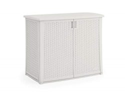 Suncast Elements Outdoor Wide Cabinet – 40″ Wide Resin Constructed Patio Furniture I ...