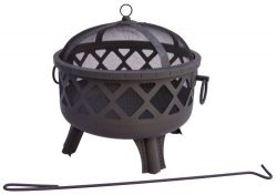 Landmann USA Garden Lights Sarasota Firepit Black Finish