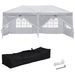 Yaheetech 10 x 20′ Pop Up Canopy Tent Heavy Duty Gazebo Party Commercial Waterproof Tent C ...