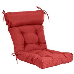 QILLOWAY Indoor/Outdoor High Back Chair Cushion,Spring/Summer Seasonal Replacement Cushions. (RED)