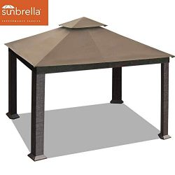EliteShade 10×13 feet Sunbrella Titan Patio Outdoor Garden Backyard Gazebo (Sunbrella Cocoa)