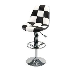 Pitstop Furniture HR1300W White Pit Crew Bar Chair