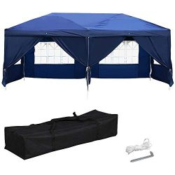 Yaheetech 10 x 20ft Outdoor Pop Up Canopy Tent Gazebo Party Wedding BBQ Pavilion Canopy Events T ...