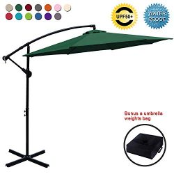 ABCCANOPY Patio Umbrellas Cantilever Umbrella Offset Hanging Umbrellas 10 FT Outdoor Market Umbr ...