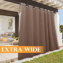 RYB HOME Outdoor Curtain – Sun Blocking Curtains Portable Contemporary Vertical Blind Room ...