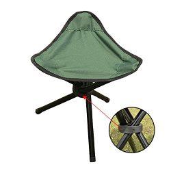 Mini Camping Stool, Lightweight Camp Stool, Portable Folding Camp Green Fishing Chair, 11.4 x 15 ...