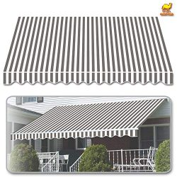 Strong Camel 12'x8′ Outdoor Patio Awning Cover Only Canopy Patio Deck Retractable Su ...