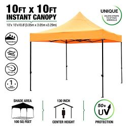 kdgarden 10'x10′ Outdoor Easy Pop Up Canopy with 420D Waterproof and UV-Treated Top, ...
