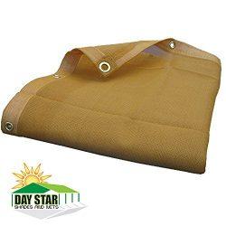 DAY STAR SHADES 10X12 (Beige) HD Mesh Tarp Net Sun Shade Fence Screen Patio Canopy Top