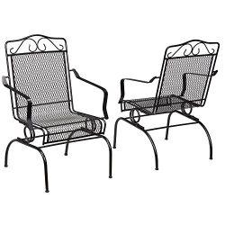 Nantucket Rocking Metal Outdoor Dining Chair (2-Pack)