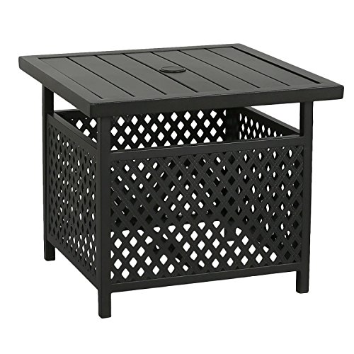 Iwicker Patio Umbrella Side Table Stand Outdoor Bistro