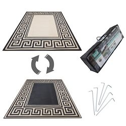 Mats Leisure,Model RN99187 Rv Patio Mat Awning Mat Outdoor Leisure Mat,New Grecian Complete Kit( ...