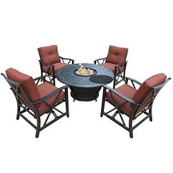 Oakland Living Charleston Deep Sitting Chat Set, Antique Bronze