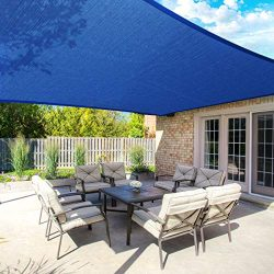 MOVTOTOP 10'x13′ Sun Shade Sails Rectangle Canopy Sails Shade, 185 GSM Thicker Outdo ...