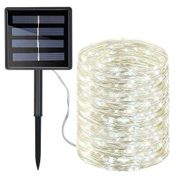 Moreplus 72ft Solar Powered String Lights 8 Modes Copper Wire Lights Indoor/Outdoor Waterproof D ...