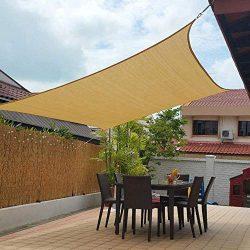 Artpuch 10′ x 13′ Shade Sails 185GSM Rectangle Shade Sail UV Block for Patio Garden  ...