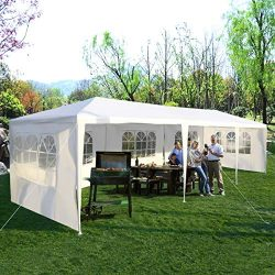 Tangkula 10'x30′ Outdoor Canopy Tent Heavy Duty Party Wedding Event Tent Sturdy Stee ...