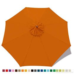 ABCCANOPY 9ft Outdoor Umbrella top Patio Umbrella Market Umbrella Replacement Canopy with 8 Ribs ...