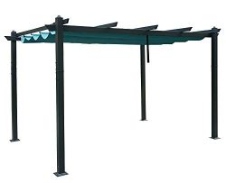 Kozyard Morgan Outdoor 10'x13′ Extra Large BBQ Grill Pergola with Sun Shade Gazebo C ...