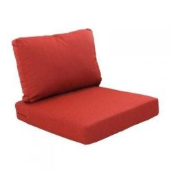 Hampton Bay Beverly Cardinal Replacement 2-Piece Outdoor Sectional Chair Cushion Set