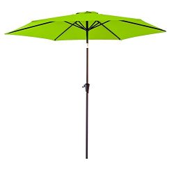 FLAME&SHADE 9′ Outdoor Patio Umbrella for Balcony Deck Backyard Garden Terrace or Pool ...